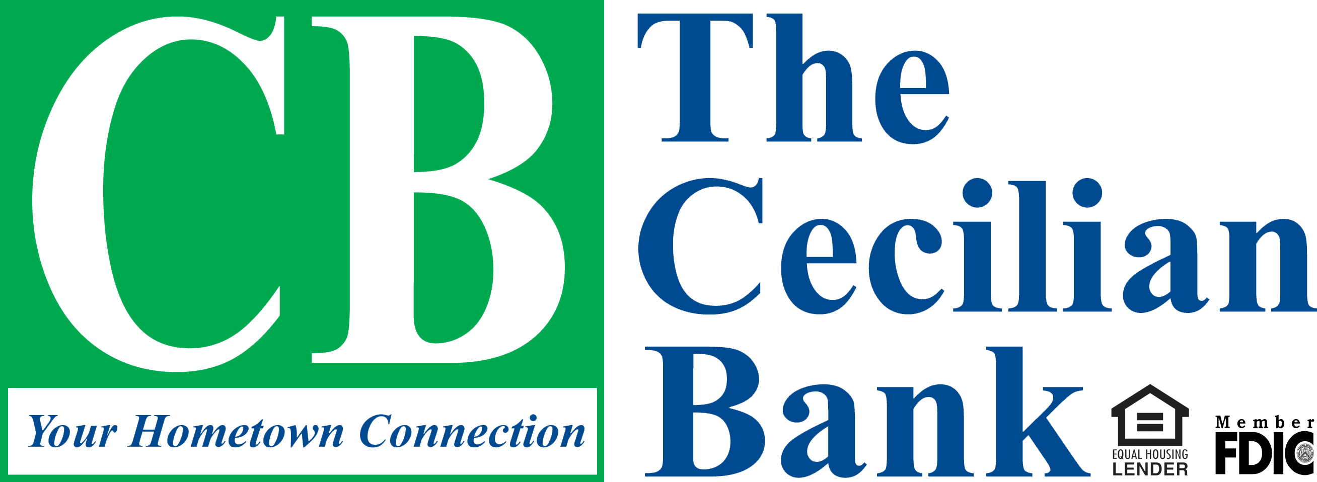 Cecilian bank with ehl and fdic logo clear background